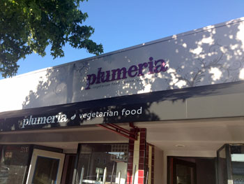 Plumeria Vegetarian Food Sign
